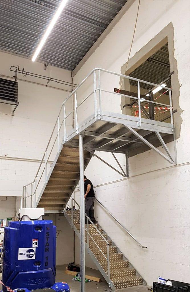 escalier deux paliers